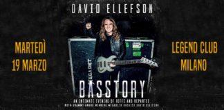 David Ellefson Basstory - 19 marzo 2019 al Legend Club di Milano