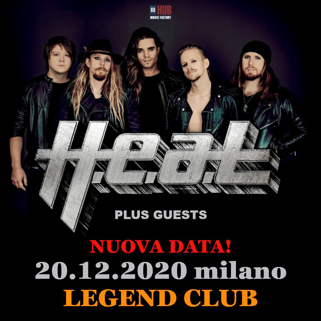 HEAT H.E.A.T. biglietti concerto Legend Club Milano 20/12/2020   Notizie